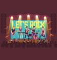musicians on concert rock band and pop vector image vector image