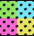 palm trees set on colors background vector image