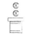 pixeled golden coin treasure score vector image