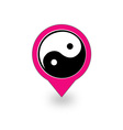 Placement with ying and yang symbol vector image vector image
