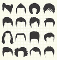 Retro Mens Hair Style Silhouettes vector image vector image