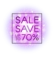 Sale banner on explosion abstract background vector image vector image