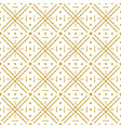 seamless checked pattern with golden glittering vector image vector image