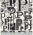 seamless vintage pattern letter P vector image vector image