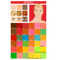 seasonal color analysis palette for spring type vector image vector image