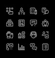 set line icons of survey vector image vector image
