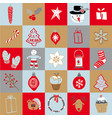 set of doodle elements christmas vector image vector image