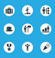 set of simple success icons vector image