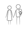 sketch thin contour of pictogram parents with a vector image vector image