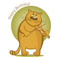 smiling cat playing the violin vector image vector image