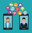 social media technology vector image vector image