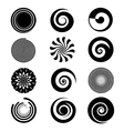 spiral elements vector image vector image