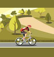 sport athlete cyclist in park vector image vector image