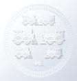 steam locomotives inside of railway circle vector image