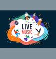 summer fest concept live music festival jazz vector image vector image