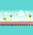 summer river promenade or bridge with green trees vector image vector image