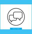 talk bubble speech icon blank empty bubbles vector image vector image