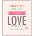 The card for Valentines Day vector image vector image