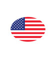united states flag oval circle vector image vector image