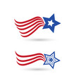 Usa abstract flag star symbol