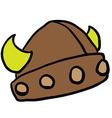 viking helmet vector image