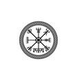 viking symbol vegvisir rune magical compass sign vector image