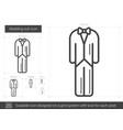 wedding suit line icon vector image vector image
