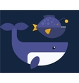 whales of marine mammal vector image