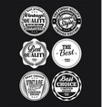 white and black vintage labels collection 1 vector image vector image