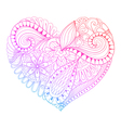 Zentangle heart painting for adult anti stress vector image vector image