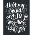 hand drawn love quote brushpen lettering vector image