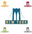 Brooklyn Bridge in New York city design template vector image