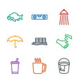 9 water icons vector image vector image