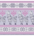 Alpaca Llama animal seamless pattern vector image