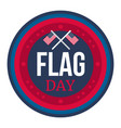 american flag day vector image vector image