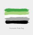 aromantic lgbt watercolor flag vector image vector image