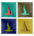 assembly flat shading style icon witch hat vector image vector image