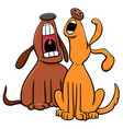 barking or howling dogs cartoon characters vector image vector image