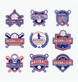 baseball logo 1 vector image vector image