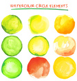 Beautiful watercolor design elements vector image vector image