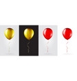 big set gold and red balloons on transparent vector image vector image