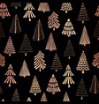 christmas tree copper foil seamless pattern vector image vector image