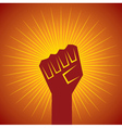 clenched fist held in protest concept vector image vector image