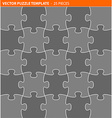 Complete puzzle jigsaw template vector image vector image