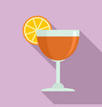 cool cocktail icon flat style vector image vector image