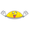 crazy slices mango on with cartoon funny vector image vector image