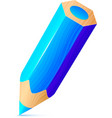 cute blue wooden little pencil vector image