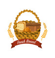delicious differents bread inside the basket vector image