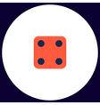 Dice Cube computer symbol vector image vector image