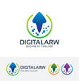digital arrow logo design vector image vector image